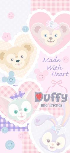 Disney Phone Wallpaper, Friends Wallpaper, Bear Wallpaper, Kawaii Wallpaper, Wallpaper Iphone Cute, Duffy The Disney Bear, Hd Wallpapers For Mobile, Cute Cartoon Wallpapers, Cute Drawings
