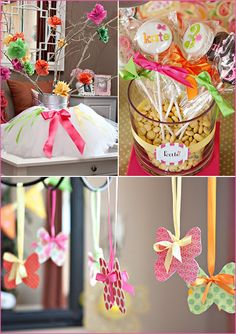 Love these fairy garden party decoration ideas.  So bright and colorful!