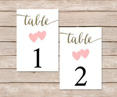 Paperhive Etsy Table Numbers