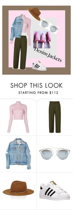 """Ice cream for denim"" by marina-polonska on Polyvore featuring мода, A.L.C., Maison Margiela, Christian Dior, Janessa Leone и adidas"