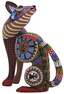 Gorgeous Oaxacan wood carving.. amazing... I love the patterns on this... and the shape of the body... #xoloitzcuintli