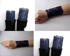 Items similar to Set of Lace Boot Cuffs and Lace Wrist Cuff , lace boot cuffs, Lace bracelet , Navy blue color, on Etsy Lace Bracelet, Bracelets, Lace Boot Cuffs, Navy Blue Color, Trending Outfits, My Style, Boots, Unique Jewelry, Handmade Gifts