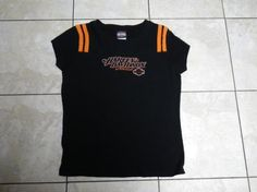 LADIES AUTHENTIC HARLEY DAVIDSON TSHIRT. FREE SHIPPING FREE PHOTONS