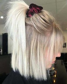 64 Adorable Short Hair Updos That Are Supremely Easy To Copy - Short blonde hair - Medium Blonde Hair, Short Blonde, Medium Choppy Hair, Short Hair Cuts, Short Hair Styles, Long Short Hair, How To Style Short Hair, Cute Short Hair Updos, Short Hair Hacks