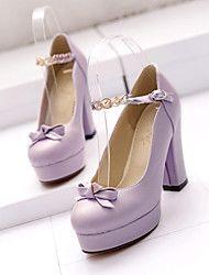 Chaussures Femme - Bureau   Travail   Habillé   Décontracté - Rose   Violet    Blanc - Gros Talon - Talons   Bout Fermé - Talons -Tulle   c730ec36671c