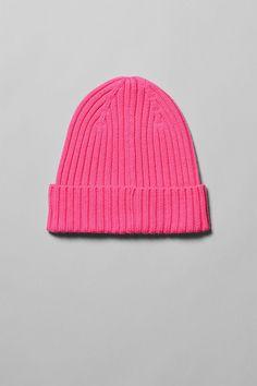 088b0c182b8f4 Place Cotton Beanie - Pink - Hats - Weekday GB Cotton Beanie