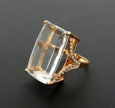 Jack Vartanian 18K Gold Diamond Quartz Cocktail Ring Featured in our upcoming auction on November 3!