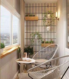 60 Small Apartment Balcony Garden Design Ideas - Favorite Place in the World - Balkon
