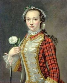 1745-50s Cosmo Alexander (1724-1772.) Portrait of a Jacobite Lady. The Drambuie Collection, Edinburgh. (Reproduction at myartprints.com.)