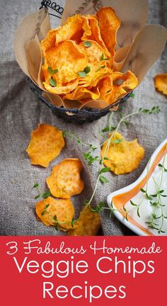 3 Fabulous Veggie Chips Recipes! Start the year off right with healthier eating habits by eating more vegetables! A great way to put some more healthy food in your diet is by making Homemade Veggie Chips. This hot trend is great for both adults and kids. It's the perfect way to sneak those nutrients into your diet. Plus, they taste great too!