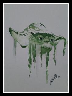 """Yoda"" watercolor painting Watercolors, Watercolor Paintings, Painting Parties, Paint Party, Artist Painting, Iphone Wallpaper, Cool Art, Star Wars, Drawings"