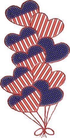 Patriotic Hearts (old) by SusannaRoxanne.deviantart.com on @DeviantArt