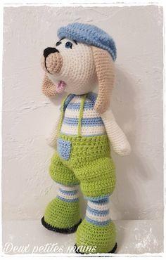 """Poupée Mélusine, petite chienne Câline, Poupée Mélusine, réalisée au crochet, en laine pingouin """" Pingo premium"""" : Jeux, jouets par deux-petites-mains"""