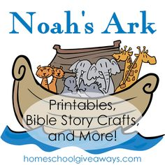 Noah's Ark printables, Bible story crafts and Preschool Bible Lessons, Bible Lessons For Kids, Bible Activities, Bible For Kids, Religion Activities, Primary Lessons, Church Activities, Bible Story Crafts, Bible School Crafts