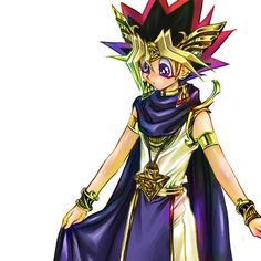 Yugi looks like he's lost...he's probably thinking what the heck am i wearing?!