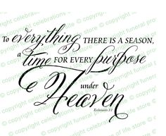 Predesigned Ready Made Scripture Bible Verses : A Season For Everything Title. Insert into any document!