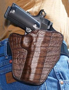 Practical Exotics | American Handgunner | Exodus Gunleather Brown Cape Buffalo Illusion | Click here: http://americanhandgunner.com/practical-exotics/
