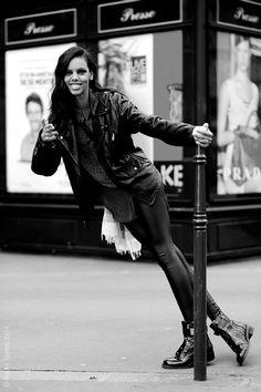 Grace Maharyduring Paris Fall/Winter Fashion Week 2014.