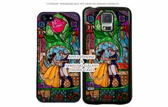Disney Beauty and The Beast Stained Glass Dance by MoonBirdCases