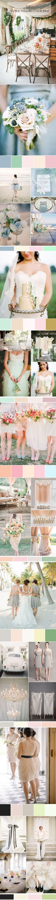 5 hot neutral wedding color ideas for wedding 2015