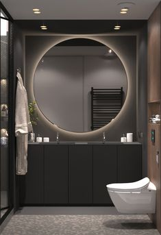Modern Bathroom Design Trends For Your Dream House 38 Contemporary Bathroom Designs, Contemporary Decor, Bathroom Modern, Contemporary Toilets, Contemporary Architecture, Modern Design, Master Bathroom, Contemporary Chandelier, Modern Toilet