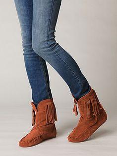 Rebecca Side Laceup Moc Boot