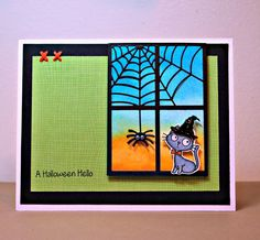 Shermaine Smith: Saturday Stamping - 8/16/14 (MFTWSC189) (MFT stamp/die: Witch Way is Candy?, Cheesecloth background stamp; dies: Spooky Window)