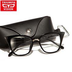 8ce54e29c3 Cat Eye Eyewear Frames Optical Myopia Clear Lens Glasses Frame Female  Hipster Vintage Spectacle Frame Big Eyeglasses Women Brand