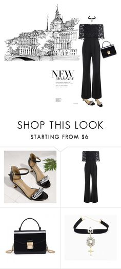 """Total black"" by stellina-from-the-italian-glam ❤ liked on Polyvore"
