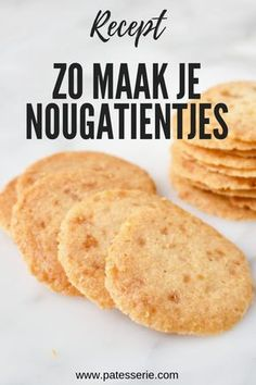Amsterdamse Koggetjes (Nougatientjes) – Food And Drink Dutch Recipes, Sweet Recipes, Baking Recipes, Cookie Recipes, Cheap Clean Eating, Clean Eating Snacks, Appetizer Recipes, Dessert Recipes, Pie Cake