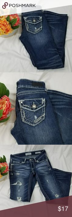 "Day Trip Leo Bootcut Jeans Size 28R Inseam 30""  Flare 7""  Waist 15.75""  Rise 7""  Hip 16.5""   04-13-12 Daytrip Jeans Boot Cut"
