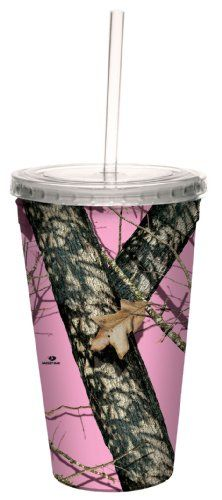 13% Off was $11.95, now is $10.37! Tree-Free Greetings 80618 Pink Break Up by Mossy Oak Camo Artful Traveler Double-Walled Acrylic Cool Cup with ... + Free Shipping