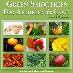 Green Smoothies For Arthritis and Gout – Anti-Inflammatory Smoothie Recipe for A… – Trick to a Gout-Free Life! Anti Inflammatory Smoothie, Anti Inflammatory Recipes, Smoothie Drinks, Smoothie Recipes, Carrot Smoothie, Juice Recipes, Smoothie Bowl, Foods That Cause Gout, Fresco