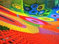 crochet playgrounds of Toshiko Horiuchi Macadam - video