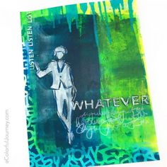 What doSketchy Women with Class have to do with Painted Rainbows? What do Figments of Imagination have to do with Kandinsky's Garden? They are just some of mynew stencil designsjust released at StencilGirl! Here's a look at some of what I've been creating with these new designs. It's my version of a journal flip through…why …