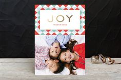 Pops of Color Holiday Photo Cards by lena barakat at minted.com