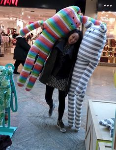 XXL,Supersized,Craft,supersize, XXL, extra large, gigantic, enormous, hugs, plush, craft, craftholic, hawaai rab, rabbit, soft toy, bunny, christmas present, grey, white, stripes, bear, sloth, toy, japan