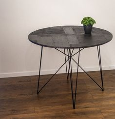 Dining Table Round Dining table Reclaimed wood by RefillDecor