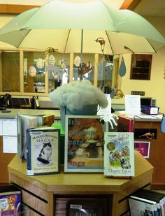 From the Short Stacks: April Displays. . . or Cats & Dogs and Poets in the Air - how to keep the umbrella upright?