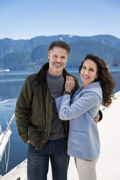 """Jack Griffith (Dylan Neal) and Olivia Lockhart (Andie MacDowell) from the Hallmark TV series """" Debbie Macomber's """"Cedar Cove"""""""