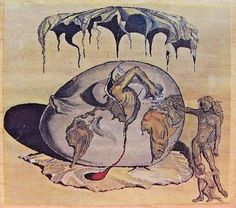 Museum Stamps - Salvador Dali: GEOPOLITICUS, Child Watching Birth of a New Man #MuseumStamps