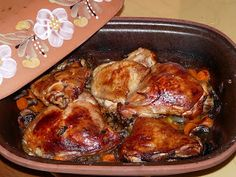 TEJ- ÉS TOJÁSALLERGIA: Római tálban sült csirke édes-savanyú mártással Tej, Naan, Chicken, Food, Eten, Meals, Cubs, Kai, Diet