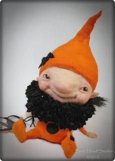 Halloween Elfie - spun cotton
