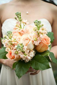 Peach Bouquet   vintage, timeless, romantic - 2013 Wedding Trend Watch   John M.S. Lecky UBC Boathouse. Richmond, BC www.ubcboathouse.com