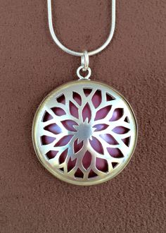 Red Dahlia Necklace from the Fire Within Collection