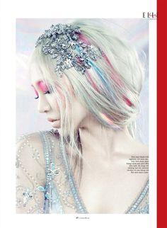 Beauty editorial for Elle Vietnam October 2013  Photographer: Yulia Gorbachenko Stylist: Beagy Zielinski Hair: Elsa Make-up: Anastasia Durasova Manicure: Julie Kandalec Set Design: Veronika Ossi  Model: Soo Joo Park