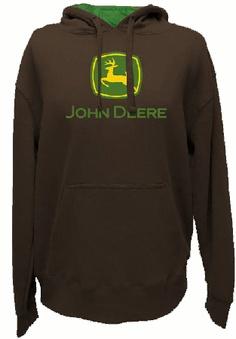 John Deere Brown Hooded Sweatshirt I want some day