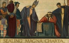 "Magna Carta: the things you didn't know. Daily Telegraph. The story behind the charter. (""John Sealing the Magna Carta 1215,"" by Frank Wood. Collection: Sunderland Museum & Winter Gardens.)"