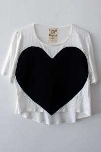 heart tee in white