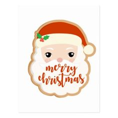 Merry Christmas | Santa Claus Cookie Postcard - Xmascards ChristmasEve Christmas Eve Christmas merry xmas family holy kids gifts holidays Santa cards